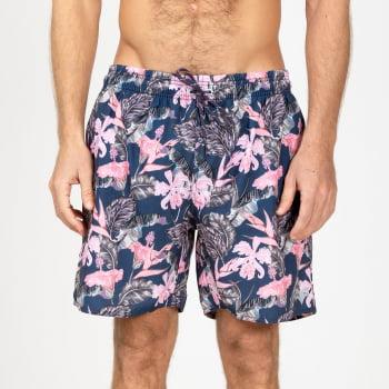 Short Elastano Pink Flowers - S13